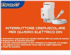 Interruttore Crepuscolare per Quadro Elettrico Din